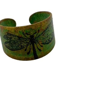 Dragonfly Patina Ring Adjustable