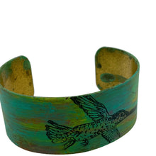 Load image into Gallery viewer, Hummingbird Patina Cuff Bracelet