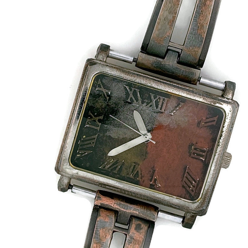 Women's Large Watch with three tone Dial