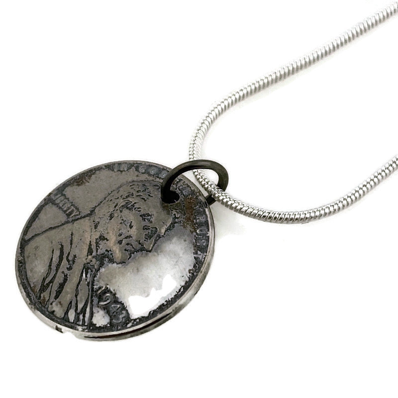 Steel Penny Coin Necklace