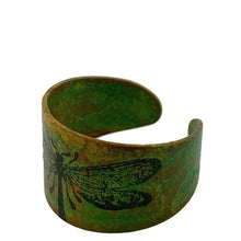 Load image into Gallery viewer, Dragonfly Patina Ring Adjustable