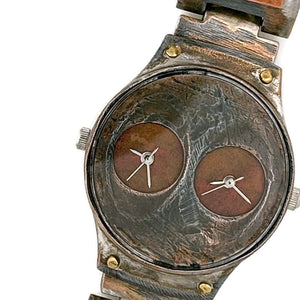 Copper Watch,Two Time Zones