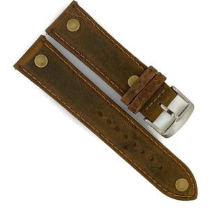 22MM Vintage Oily Leather Watch Band