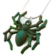 Load image into Gallery viewer, Spider Patina Necklace