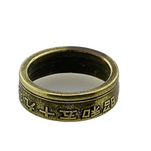 Japan Five Yen Coin Ring -Size 5 1/2