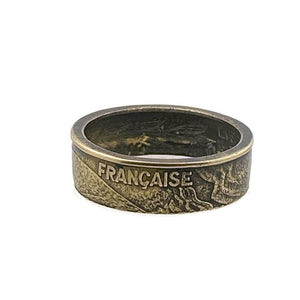 French Coin Ring -Size 8 1/2