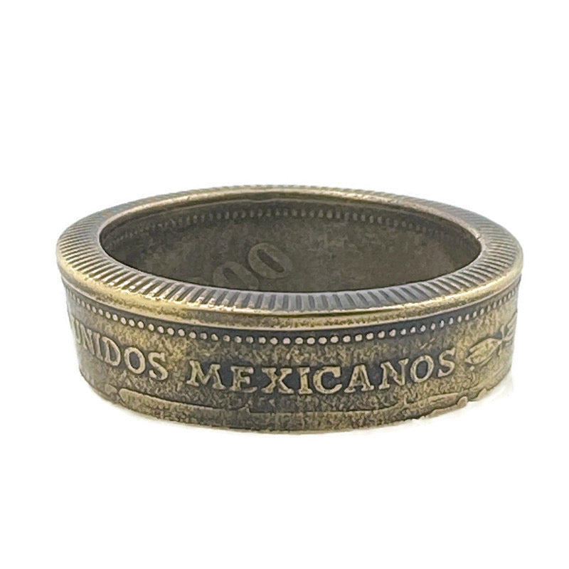 Mexicanos Coin Ring Eire -Size 15
