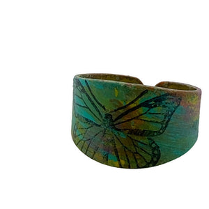 Butterfly Patina Ring Adjustable