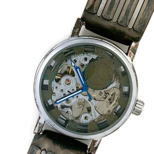 Men's Automatic Mechanical Watch, blue Dial