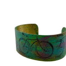 Load image into Gallery viewer, Bicycle Patina Cuff Bracelet
