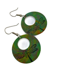 Load image into Gallery viewer, Dragonfly Patina Earrings
