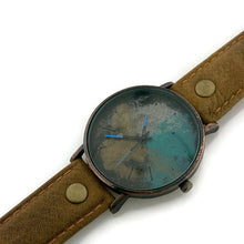 Load image into Gallery viewer, Watch Multi Color Dial With Brown Leather Band