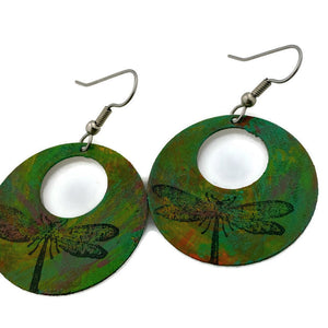 Dragonfly Patina Earrings