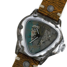 Load image into Gallery viewer, Men's Automatic Mechanical Watch, Multi Color Dial With Leather Band
