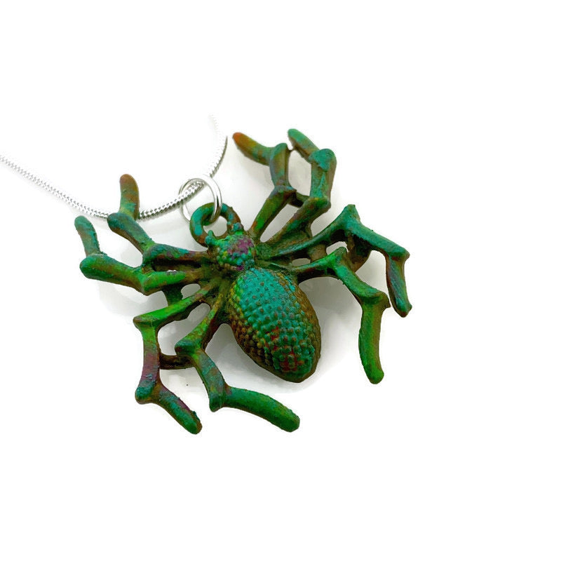 Spider Patina Necklace