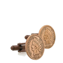 Load image into Gallery viewer, Indian Head Penny Coin Cufflinks