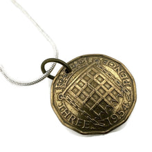 Load image into Gallery viewer, Three Pence Coin Necklace