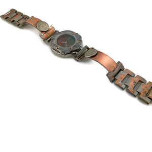 Women's Copper & brass Watch, Multi Color Dial