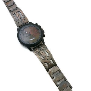 Men's Watch with Date, Three Tone Dial