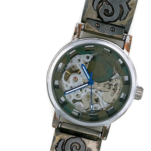 Automatic Mechanical Watch, blue Dial