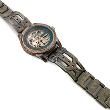 Load image into Gallery viewer, Copper Automatic Mechanical Watch, Blue Dial