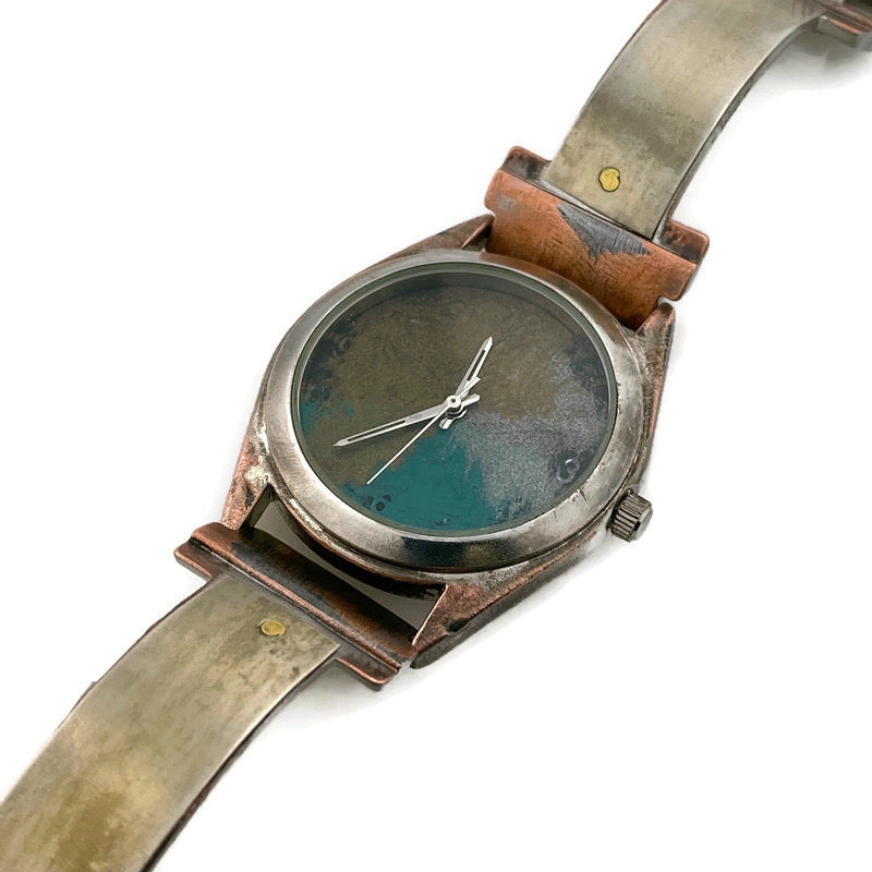 Watch With Silver, Blue, Silver & Gold Dial