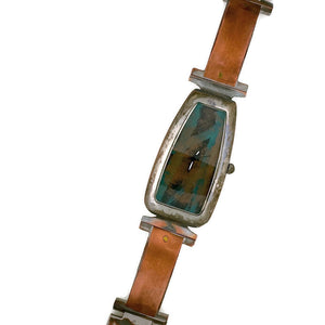 Women's Copper Watch, blue Dial