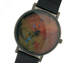 Load image into Gallery viewer, Men's Watch Multi Color Dial With Black Mesh Band