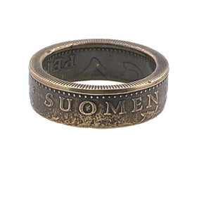 Finland Suomi Coin Ring -Size 5 1/2