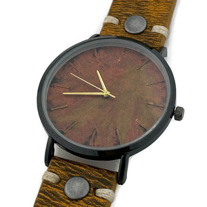 Men's Watch, Copper Dial with Leather Band