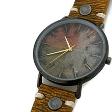 Load image into Gallery viewer, Three Tone Dial Watch with Leather Band