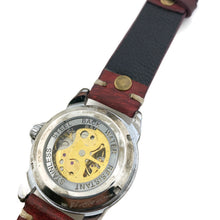 Load image into Gallery viewer, Automatic Mechanical Watch, Multi Color Dial With Leather Band
