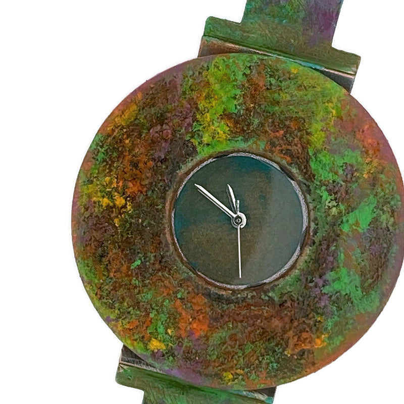 Women's Patina Watch with Antique Green Dial