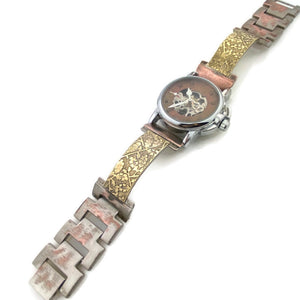 Small Automatic Mechanical Watch With Brass, copper Dial