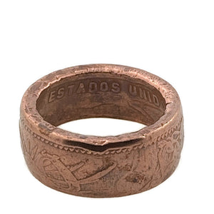 Copper Mexicanos Coin Ring Eire -Size 8