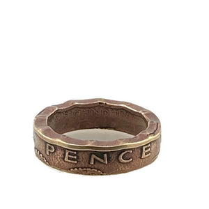 Three Pence Coin Ring -Size 6 1/2