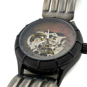 Men's Automatic Mechanical Watch, Three Tone Dial