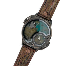 Load image into Gallery viewer, Men's Large Dial  Multi Color Watch With Leather Band