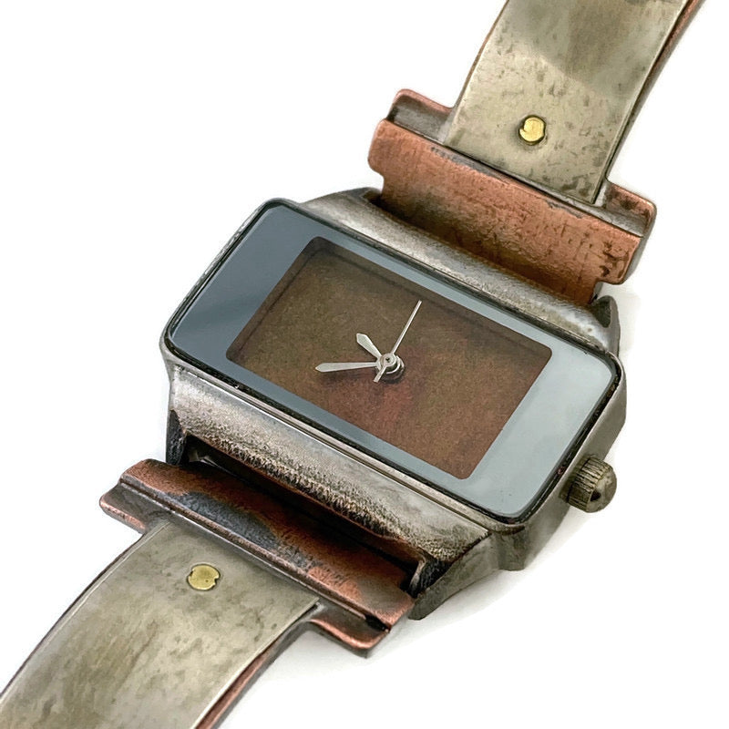 Watch With Silver &  Copper Dial