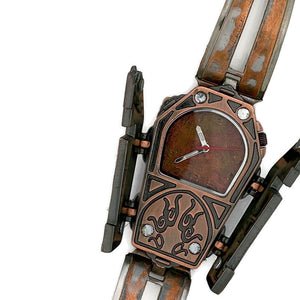 Coffin Watch With Copper Dial