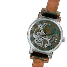 Load image into Gallery viewer, Copper Wind Up Mechanical Watch, Blue Dial