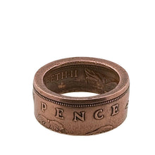 Load image into Gallery viewer, Copper New Pence Coin Ring - Size 5 3/4