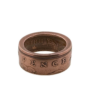 Copper New Pence Coin Ring - Size 5 3/4