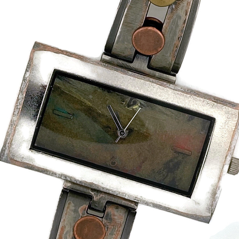 Women's Large Watch with Multi Color Dial