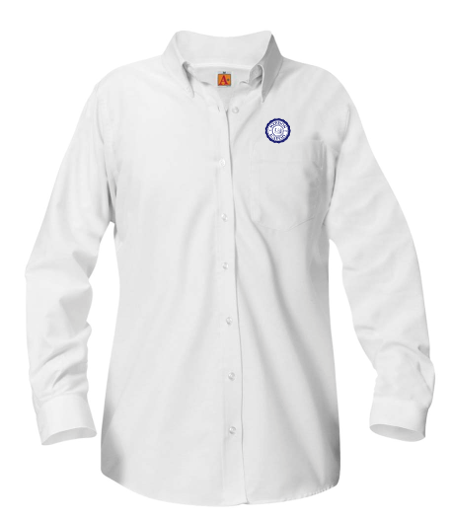 MHS girls long-sleeve Oxford