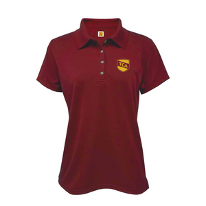 TCA short-sleeve girls fitted polo