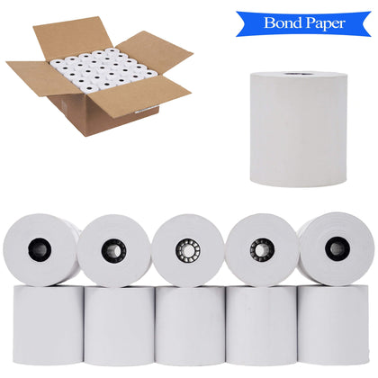 BuyRegisterRolls® Kitchen Paper 100 CARBONLESS Rolls 2 CASES 3