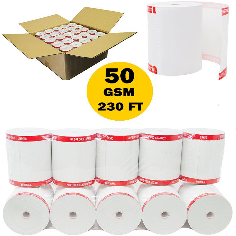(50 GSM Paper Thickness Shrink Wrap Coreless) 3-1/8