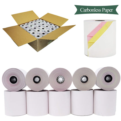 BuyRegisterRolls® Register Rolls 12 CARBONLESS ROLLS 3