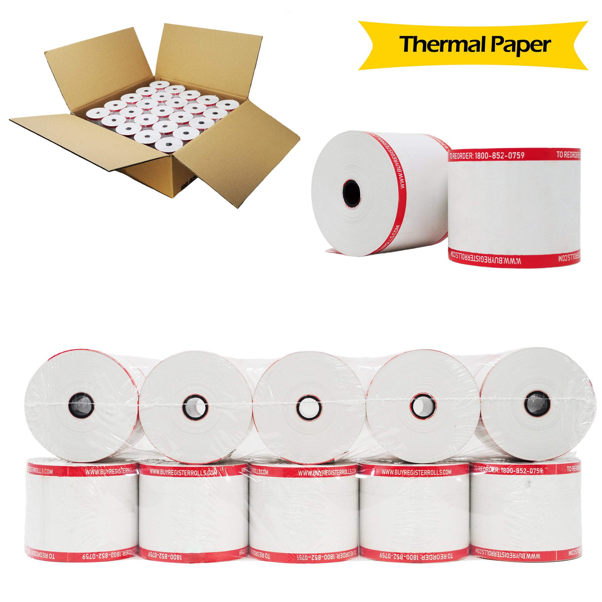 thermal paper 2 1//4 230 50 New RollsSame Day Handling Free Shipping